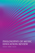 Picture of the Philosophy of Music Education Cover Page