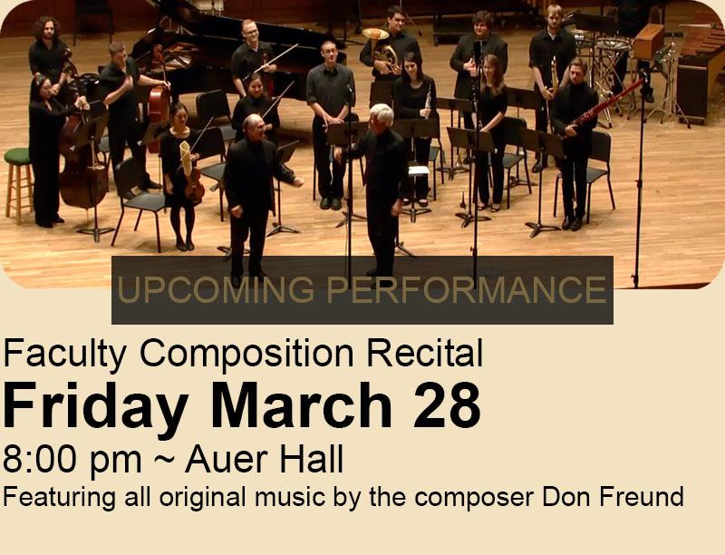 Faculty Composition Recital, don freund